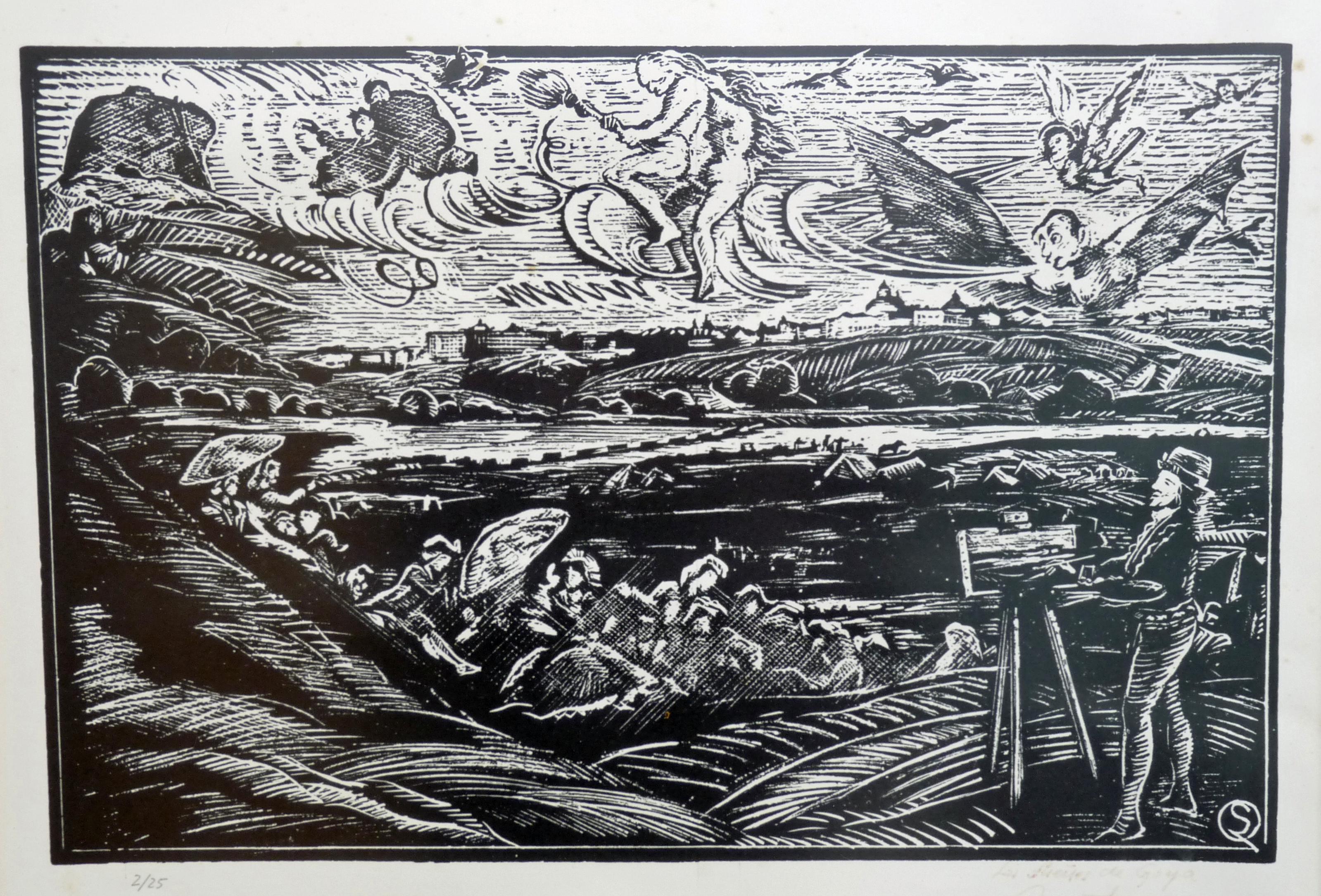 Los hijos de Goya   Sócrate Quintana (Xilografía 0,50x0,40)