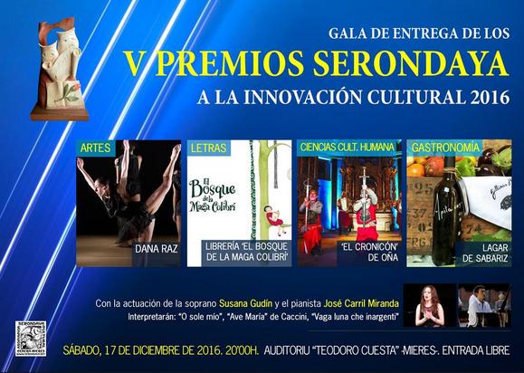 Cartel Premios Serondaya a la Innovación Cultural 2016