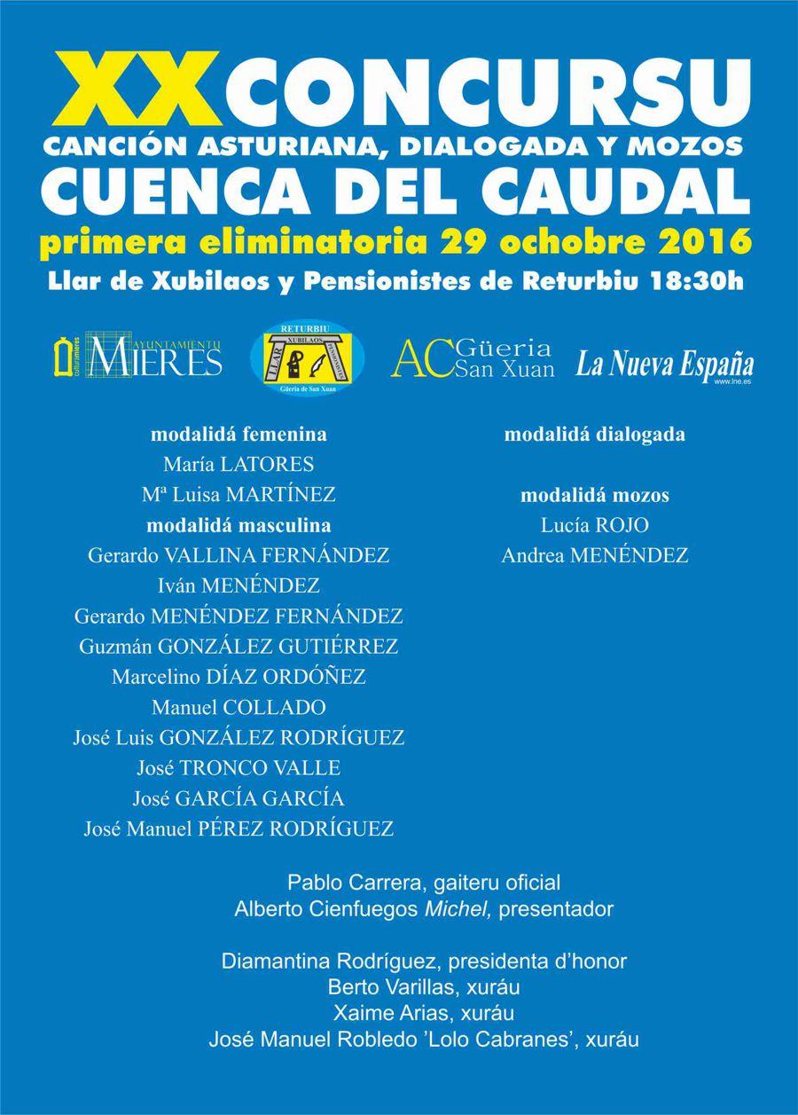 XX Concursu Cuenca del Caudal- primera eliminatoria