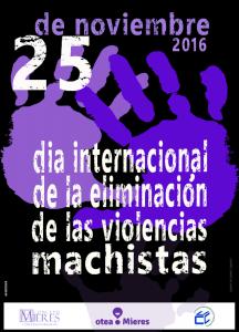 cartel actos dia de la eliminacion violencias machistas