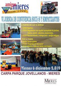 Cartel Dia Del Socio 2019 Amigos De Mieres