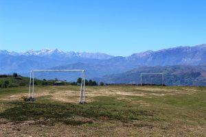 Pista de fútbol del área recreativa La Teyerona.