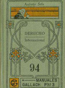 Portada Manual Derecho Internacional de Aniceto Sela