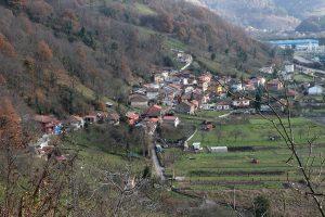 Vista del pueblo Baiña (Fot.:  Cheluis - AF Semeya).