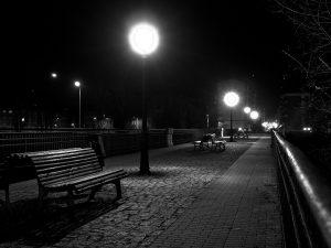 Vista nocturna al Puente la Perra - Mieres (Fot: Carlos Salvo - AF Semeya)