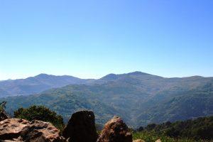 Vistas del Paisaje Protegido de las Cuencas Mineras desde el área recreativa La Teyerona.