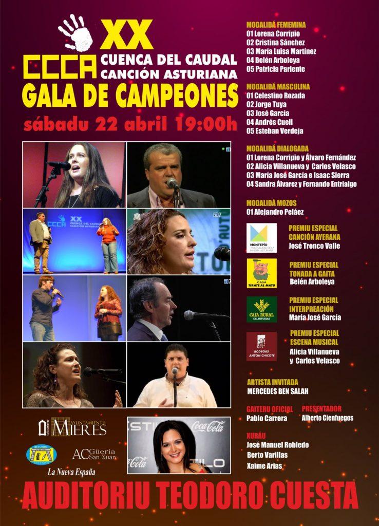 XX concursu Cuenca Caudal Gala campeones