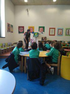 Leo cuentacuentos para centros escolares en la Biblioteca de Mieres