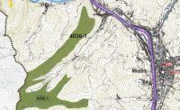 Distribución de brezales secos europeos en el oeste de Mieres.
