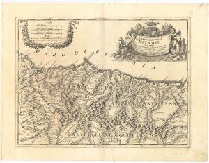 Mapa de Asturias 1696 (Fuente: IGN)