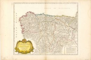 Mapa de Asturias 1752 (Fuente: IGN)