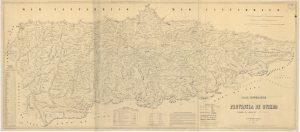 Mapa de la provincia de Oviedo 1855 (Fuente: IGN)