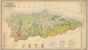 Mapa de vegetación de la provincia de Oviedo 1862 (Fuente. IGN)