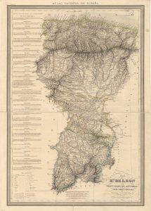 Mapa del Reino de León y Asturias 1837  (Fuente: IGN)