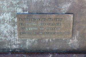 Placa 1995 Monumento Internacional al Minero