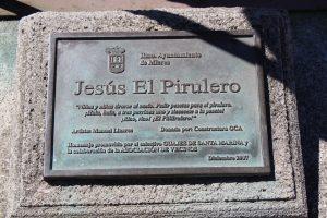 Placa Escultura de Jesús el Pirulero