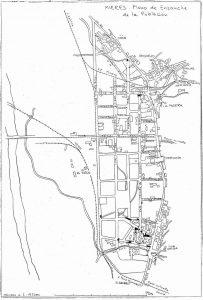 Plano de Mieres 1924 (Fuente: Noticias históricas sobre Mieres y su concejo)