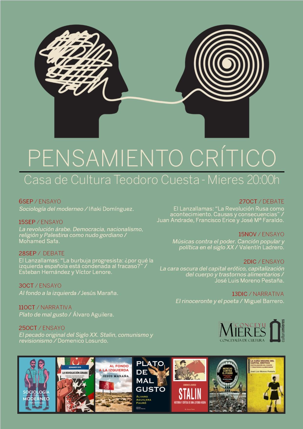 CARTEL-Ciclo  pensamiento critico Mieres SEPT-DIC17