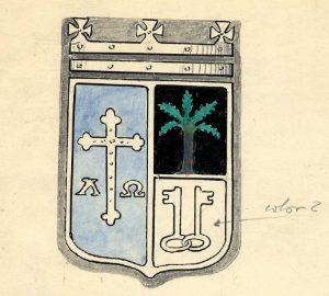 Ejemplo del diseño del escudo presentado por concejales - Enero 1958