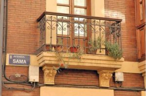 Antiguos detalles del balcón
