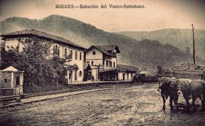 Antigua estación, llegada del ferrocarril