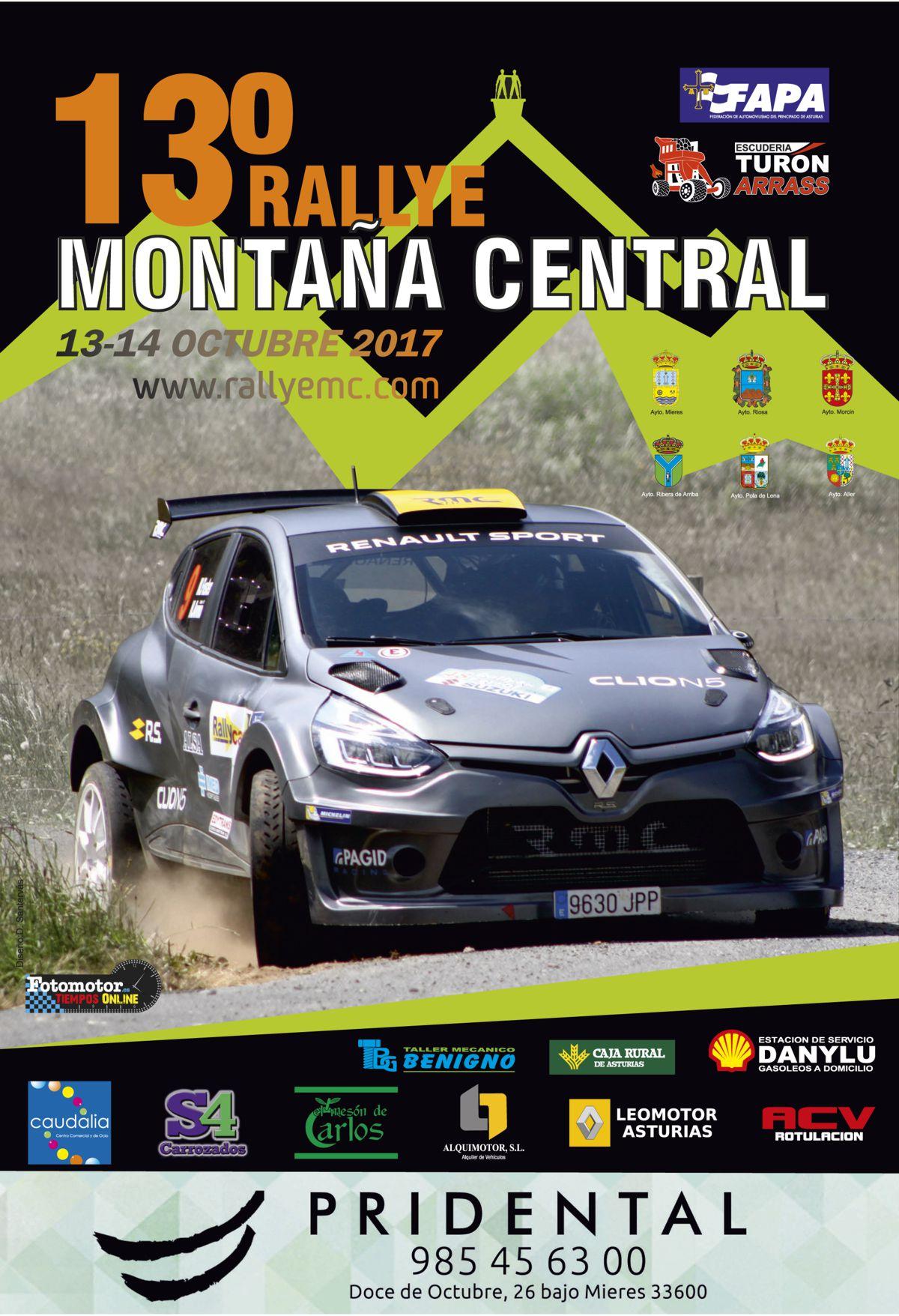 Cartel Rallye Montaña Central 2017