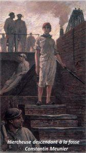 Mujeres mineras - Grabado