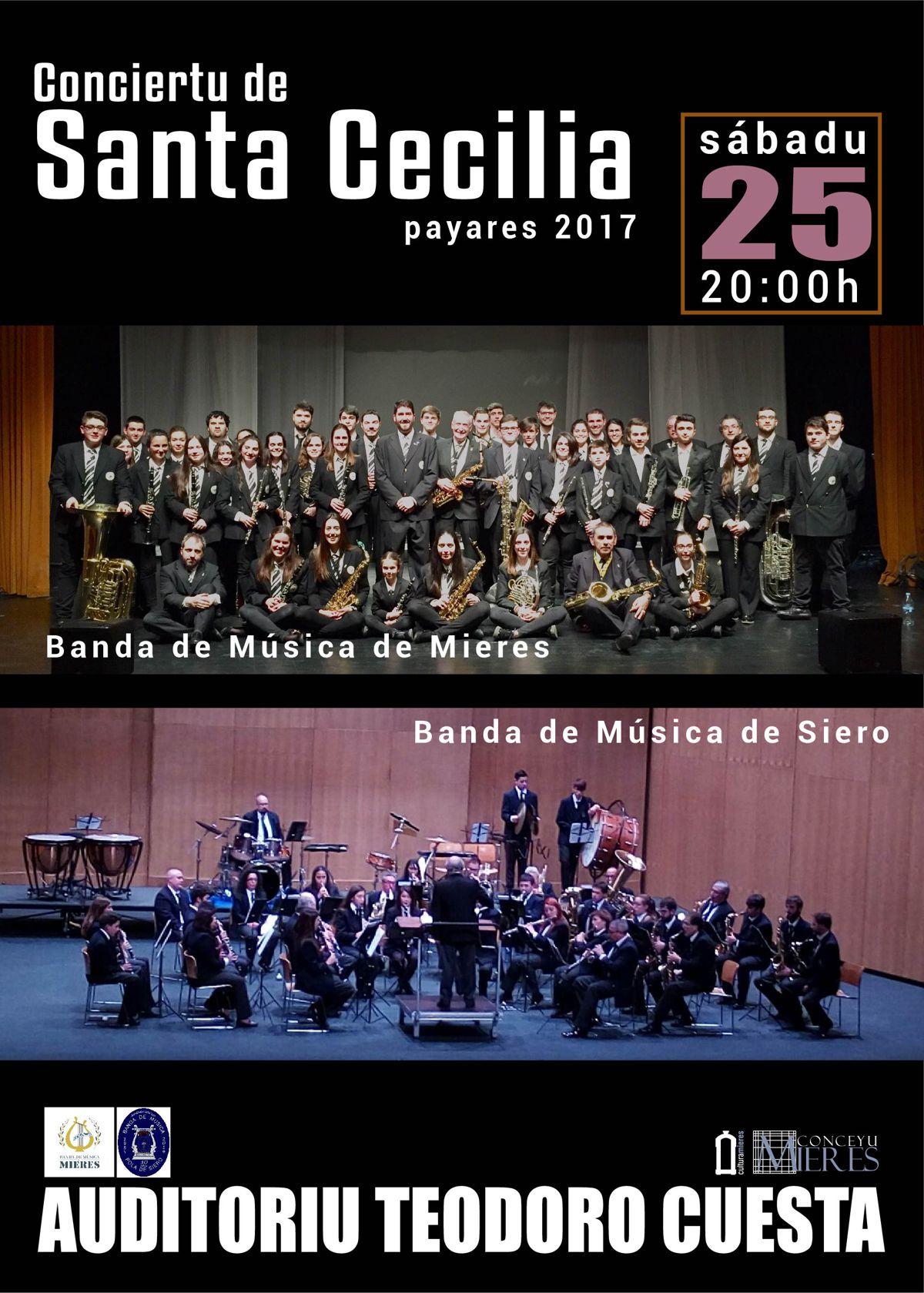 cartel web Concierto santa Cecilia 2017 Mieres