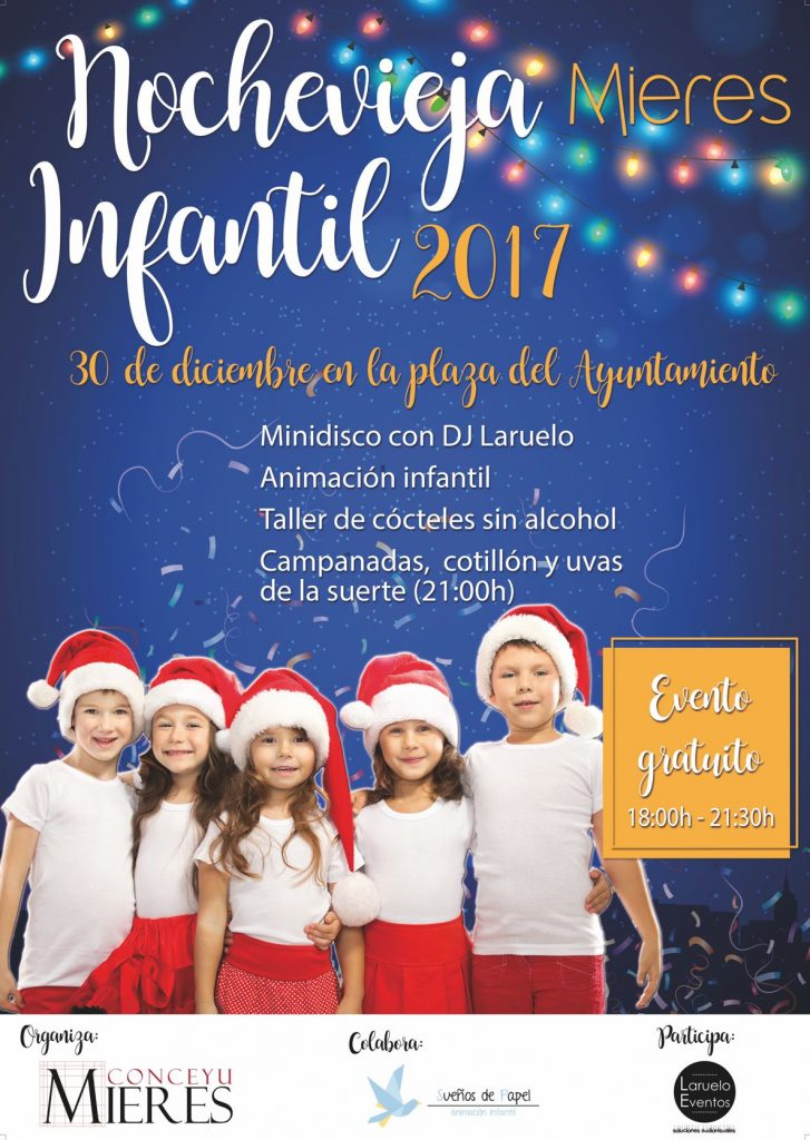 cartel web nochevieja infantil 2017