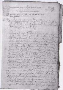 Relación de soldados Ayuntamiento 1813