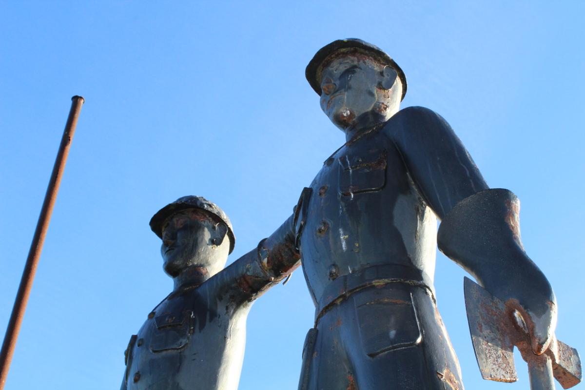 Detalle Monumento al Minero