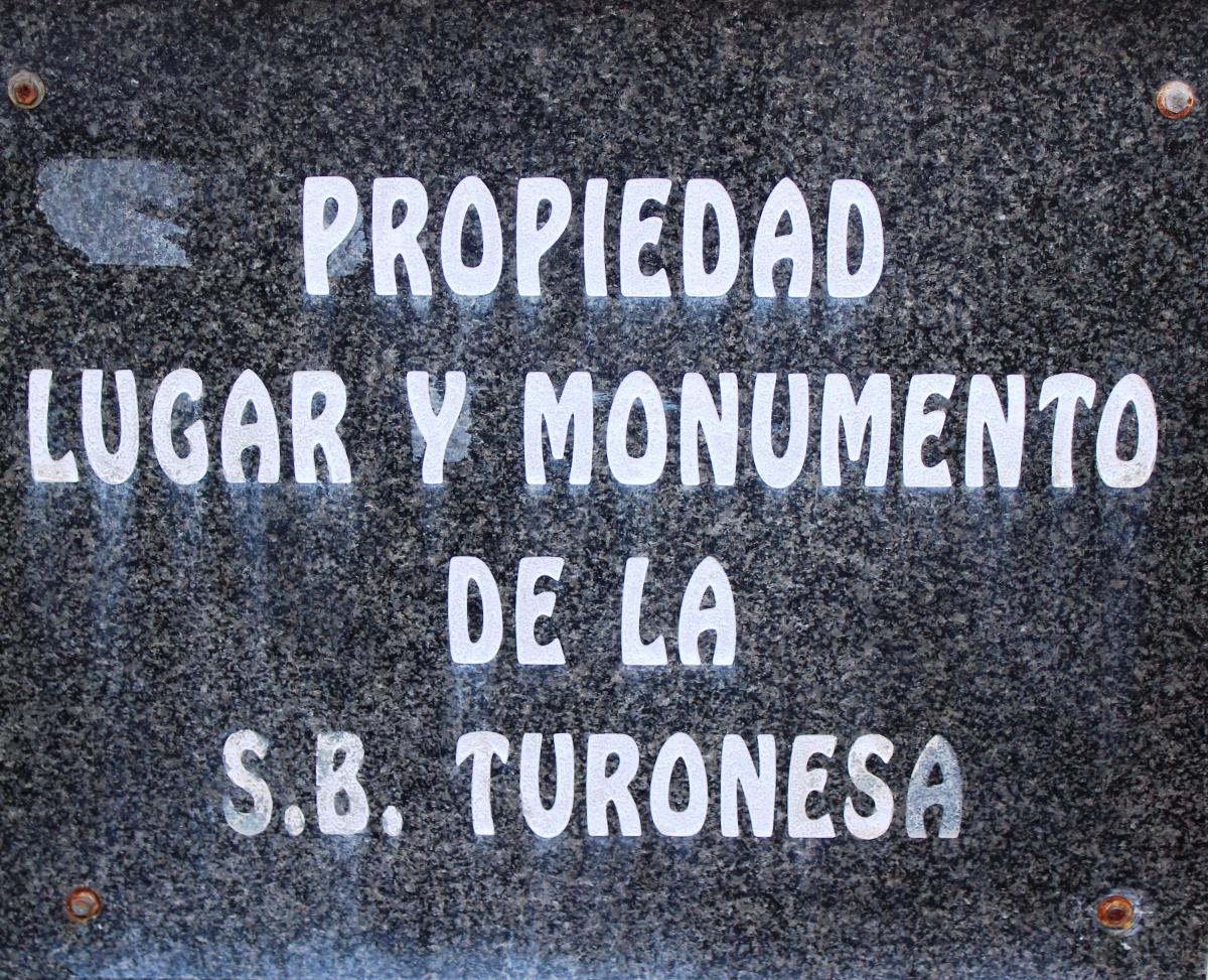 Placa trasera Monumento al Minero Jubilado