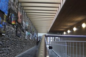 Vista del corredor del Auditorio