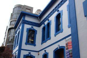 Vista de la parte superior de la Casa de la cultura