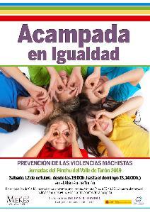 Cartel Web Acampada Igualdad Turon Octubre 2019
