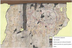 05-Pinturas murales El Llugarin-Estado de conservación y daños de la primera escena