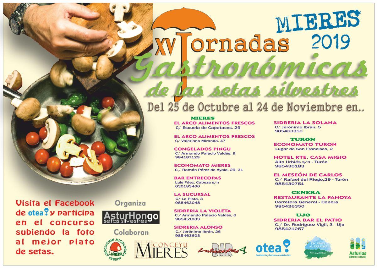 Cartel Web Jornadas Gastronómicas De Las Setas Otoño 2019