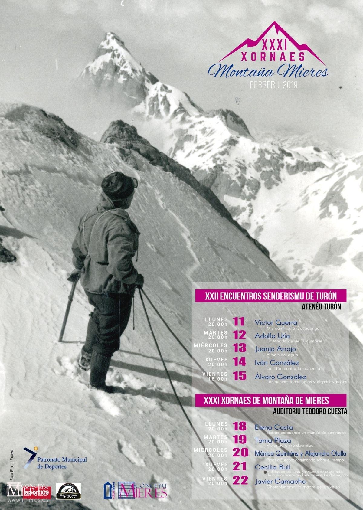 Cartel Web Jornadas Montaña Mieres 2019
