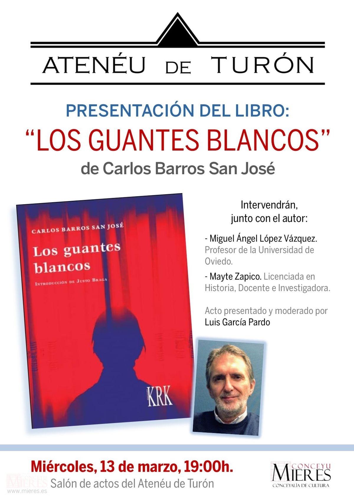 Cartel Web Presentacion Libro Turon Los Guantes Blancos