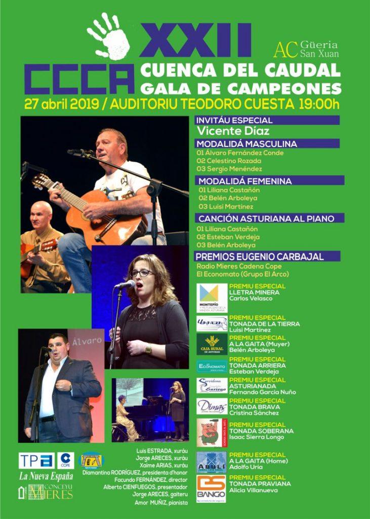Cartel Web GALA DE CAMPEONES 2019 Concursu Cuenca Caudal