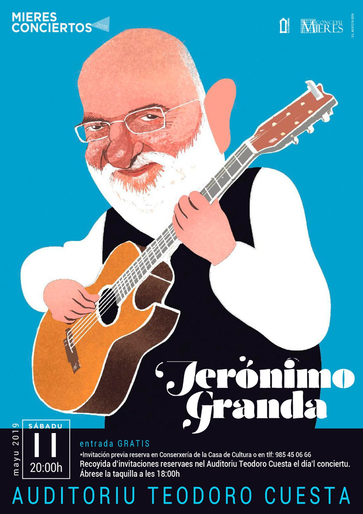 Cartel Web Concierto Jeronimo Granda