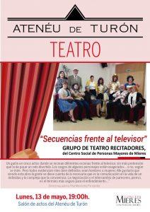 Cartel Web Teatro Recitadores Televisor Turon