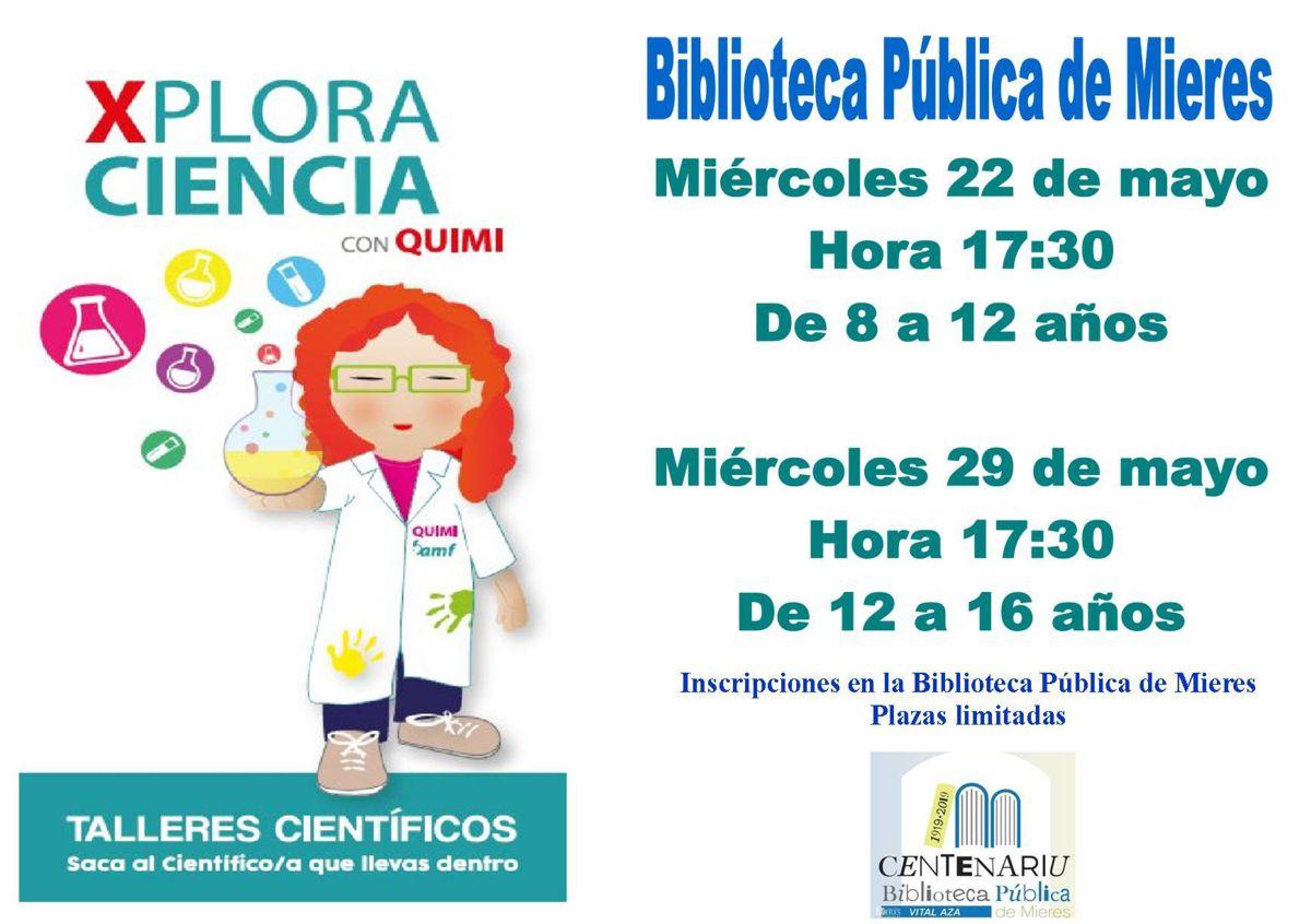 Cartel Web Quimi Biblioteca Mieres 2019