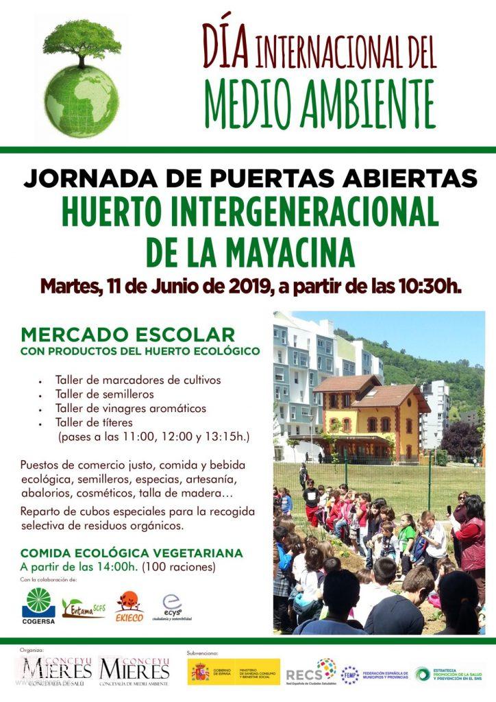 Cartel Día Del Medio Ambiente Jornada Puertas Abiertas Huerto 2019