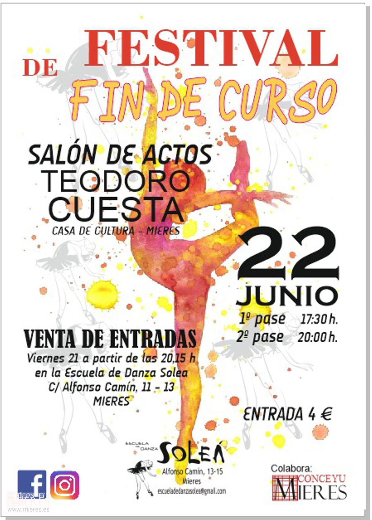 Cartel Web Festival Fin De Curso Academia Solea