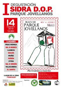 Cartel Concurso Sidra DOP Parque Xovellanos