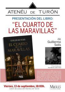 Cartel Web Presentacion Libro Turon Cuarto Maravillas