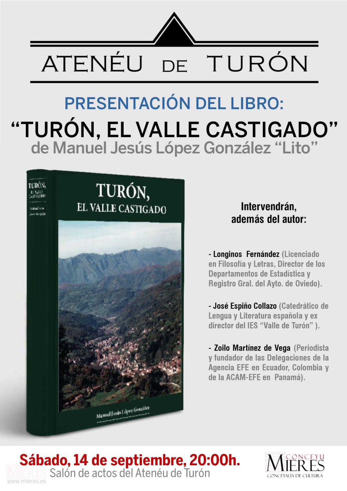 Cartel Web Presentacion Libro Turon Valle Castigado