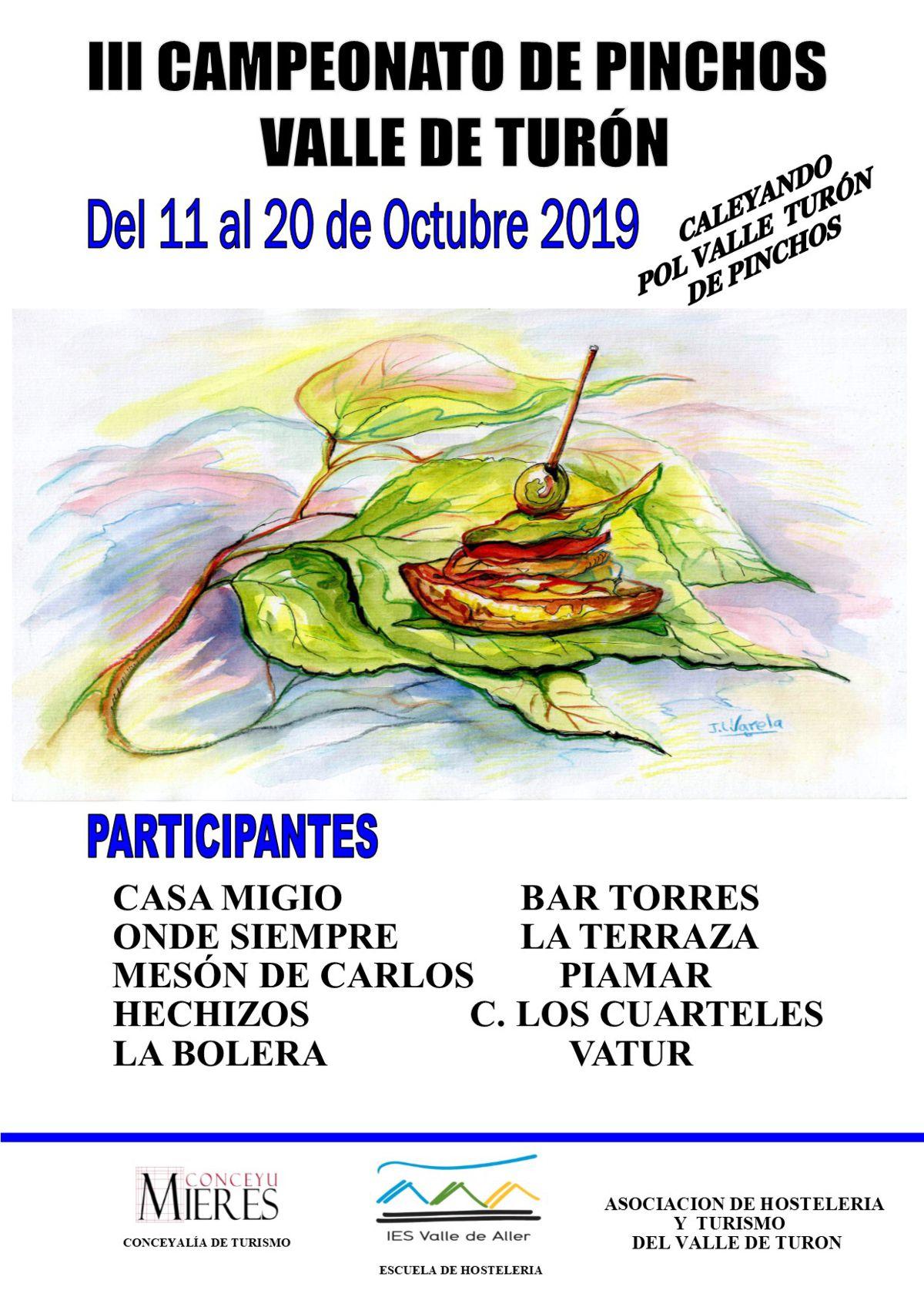 Cartel Web Campeonato Pinchos Turon 2019