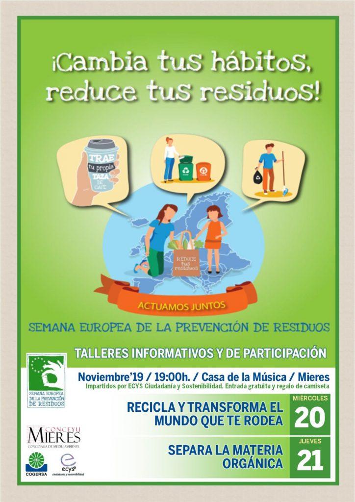 Cartel Talleres Semana Prevencion Residuos 2019